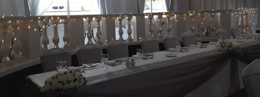 Fairy Lights Behind Top Table