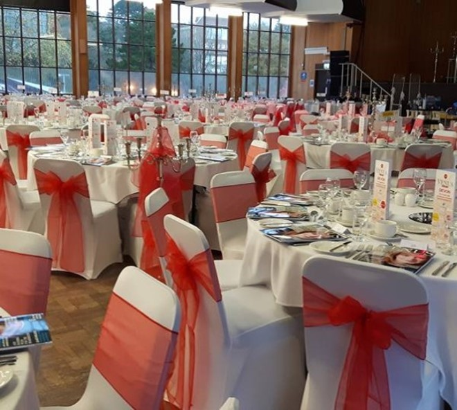 Corporate event - Red Organza